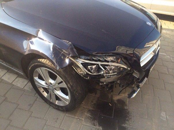 Кузовной ремонт автомобиля Мерседес до ремонта
