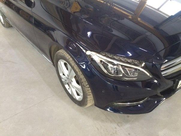 Кузовной ремонт автомобиля Мерседес после ремонта